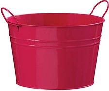Premier Housewares Runder Zink-Eimer mit 2 Griffen (pink)