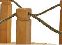 Gaspo Holzbrücke mit Handlauf