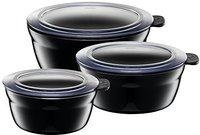 Silit Fresh Bowls-Set 3tlg. Piano Black