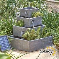 Primrose London Bepflanzbarer Solar-Kaskadenbrunnen