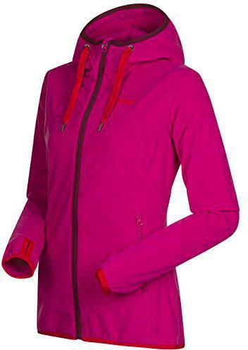Bergans Cecilie Fleece Jacket Dark Bubblegum / Bright Red / Wine