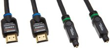 AmazonBasics Hochgeschwindigkeits-HDMI-Kabel (2,0m) und Toslink Optisches Digital-Audiokabel (1,8m)