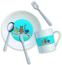 Mono-a Kids 18/10 Die Maus Kinderbesteck mit Tasse und Teller 5 tlg.