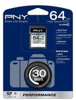 PNY SDXC Performance 64GB Class 10 UHS-I (SD64G10PER-EF)