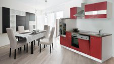 Respekta Küchenzeile weiß (280 cm)