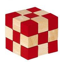 Fridolin IQ-Test - Holz-Würfel zweifarbig natur/rot (17422)