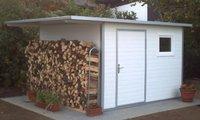 NWS Gartenhaus Pultdach 450 x 150 cm (Stahl)