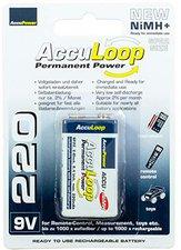 AccuPower AccuLoop AL220 NiMH Ready2Use Akku 9V 220 mAh