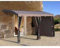 Grasekamp Seitenwand-Set für Anbaupergola Mallorca 400 x 300 cm