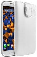 Mumbi Ledertasche weiß (Samsung Galaxy S3)