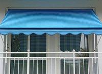 Angerer Klemm-Markise 400 x 150 cm uni-blau