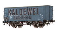 """BRAWA Gedeckter Güterwagen G10  """"Kaldewei """" DB (48285)"""