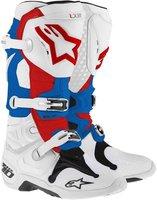 Alpinestars Tech 10 Boot weiss/blau/rot