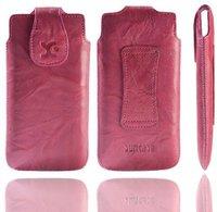 SunCase Handytasche Wash Pink (Huawei Ascend P6)