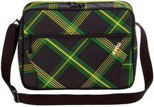 4You Reporterbag Checker Black Green Yellow