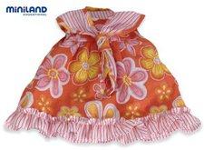 Miniland Orangenes Blumenkleid 40 cm