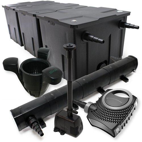 Wiltec Teichfilter-Set CBF-350C, 90000 Liter, 36W UVC (54539)
