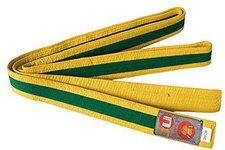 Ju Sports Budogürtel gelb/grün/gelb (Mittelstreifen)