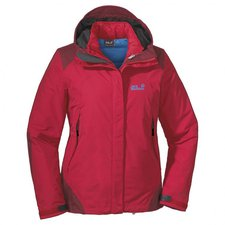 Jack Wolfskin Peregrine Jacket Women Clear Red