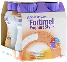 Pfrimmer Nutricia Fortimel Yoghurt Style Pfirsich Orangegeschmack (4 x 200 ml)