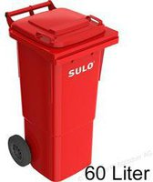 Sulo Mülltonne 60 Liter rot