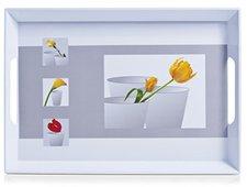 Zeller Melamintablett Blumen 50 x 35 cm