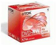 TDK DVD-RW 4,7GB 120min 4x 10er Jewelcase