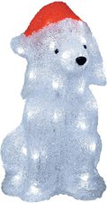 Konstsmide LED Acryl Hund mit Weihnachtsmütze (6182-203)