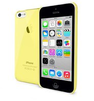 Celly Crystal Case gelb (iPhone 5C)