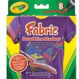 Crayola 8 leuchtende Textilstifte