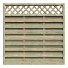 Delta Gartenholz Mailand Zaun BxH: 180 x 180 cm