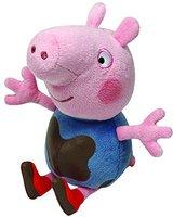 TY Beanie Babies - Peppa Pig - George Pig Muddy Puddles