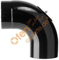 Muldenthaler Bogen glatt 90° mit Reinigungsöffnung emailliert ø 120 mm (1BGG-90120RÖ)
