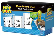 Learning Resources Educational Insights 2758 Hot Dots Math Flash Cards - Mehr Subtraktion
