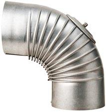 Muldenthaler Bogen gerippt 90° mit Reinigungsöffnung FAL Ø 130 mm (2BG-90130RÖ)