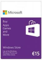 Microsoft Windows Store 15 EUR Guthabenkarte