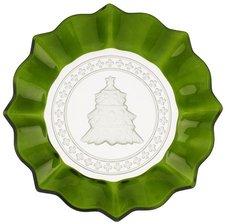 Villeroy & Boch Christmas Glass Accessories Gebäckteller grün Baum (25 cm)