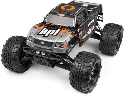 HPI Nitro GT-3 Truck Karosserie silber-gunmetal Savage X (109884)
