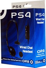 ORB Accessories PS4 Wired Chat Headset