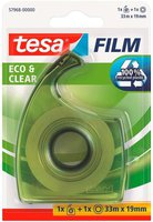 Tesa eco & clear 33m x 19 mm + Easy Cut Handabroller