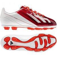 Adidas F5 TRX HG J Messi running white/dark orange/black