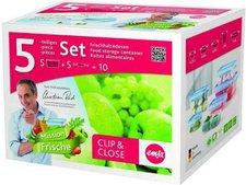 Emsa Clip & Close Frischhaltedosen Starter Set 5 tlg.