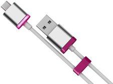 MiPow GlowSync Micro USB Sync- & Ladekabel 60cm pink