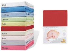 Pinolino Spannbetttuch für Kinderbetten Jersey Orange