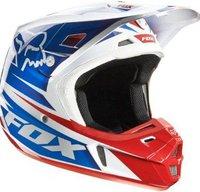 Fox V2 Race weiß/rot/blau