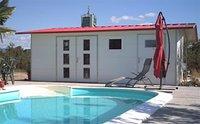 NWS Gartenhaus Satteldach 400 x 400 cm (Stahl)