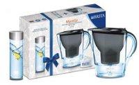 Brita Marella Cool Wasserfilter Graphit + Glas-Karaffe