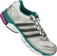 Adidas Response Cushion 22 W running white/night metallic/blast emerald
