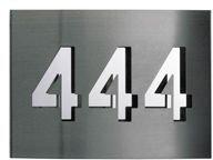 Albert Hausnummer mit 3 Ziffern (Edelstahl)