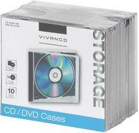 Vivanco 31693 CD/DVD Jewel Case schwarz (10er Pack)